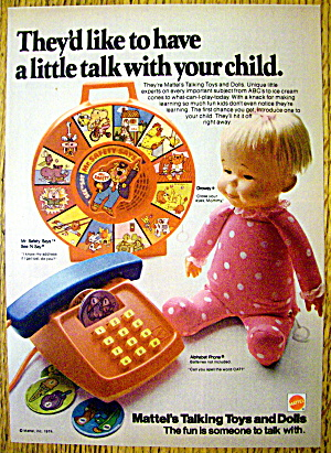1974 Mattel Talking Toys & Dolls With Drowsy Doll