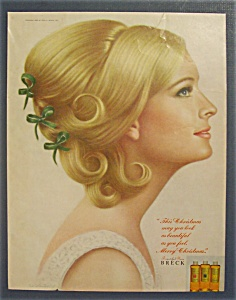 1967 Breck Shampoo with Lovely Side View of Woman (Image1)