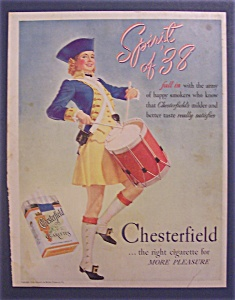1938 Chesterfield Cigarettes with Woman Playing Drum (Image1)