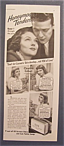 1938 Lux Toilet Soap With Claudette Colbert