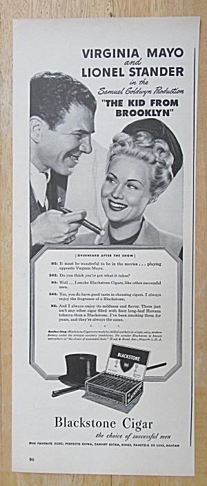 1945 Blackstone Cigars w/Virginia Mayo & Lionel Stander (Image1)