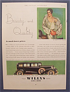 Vintage Ad: 1931 Willys Cars