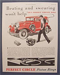 Vintage Ad: 1932 Perfect Circle Piston Rings (Image1)