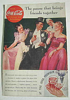 1935 Coca-Cola (Coke) with Two Women & Man Talking (Image1)