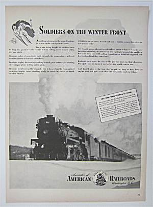 1943 Association Of American Railroads With A Train