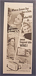 1940 Lux Toilet Soap W/ Olivia De Havilland