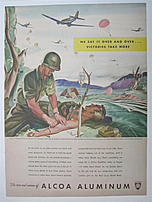 1943 Alcoa Aluminum w/Soldier Doing an IV to Soldier  (Image1)