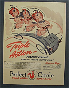Vintage Ad: 1940 Perfect  Circle  Piston  Rings (Image1)