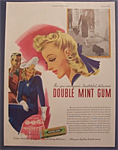 1939 Wrigley's Double Mint Chewing Gum W/ Andrea Leeds