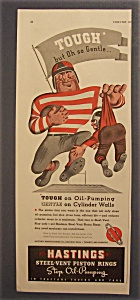 1939 Hastings Steel-Vent Piston Rings w/Football Player (Image1)