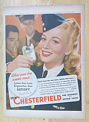 1944 Chesterfield Cigarettes with Carole Landis  (Image1)