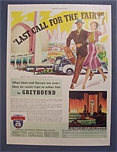 Vintage Ad: 1939 Greyhound Lines (Image1)