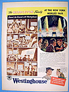 Vintage Ad: 1939 Westinghouse Electric (Image1)