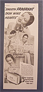 1939 Lux Toilet Soap W/ Dorothy Lamour