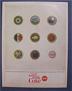 1964 Coca-cola (Coke) With 8 Different Scout Patches