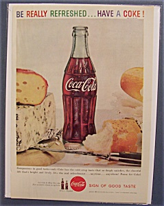 1960 Coca-cola (Coke) Surrounded By Food