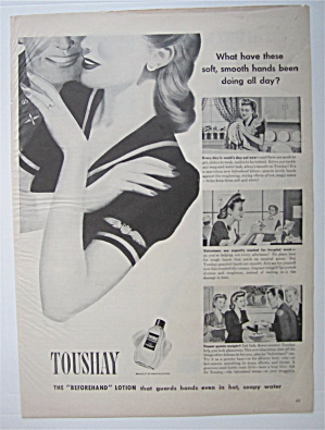1943 Toushay Lotion with Woman Soldier & Man Soldier (Image1)