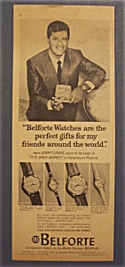 1962 Belforte Watch With Jerry Lewis