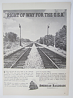 1942 Association Of American Railroads With Train Track