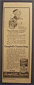 1916 Campbell Tomato Soup With Campbell Kid Eating