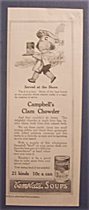 1916 Campbell Clam Chowder Soup W/campbell Kid & Tray