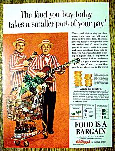Vintage Ad: 1964 Kellogg's Foods w/Homer & Jethro (Image1)