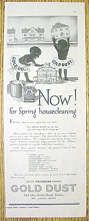 1918 Gold Dust With Spring Housecleaning