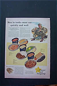 1943 Armour And Company with Soldier Sitting & Eating (Image1)