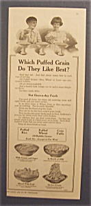 1918 Puffed Rice, Wheat & Corn Puffs Cereal