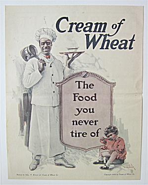 1918 Cream Of Wheat Cereal Ad With Little Child