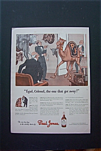 1943 Paul Jones Whiskey With Camel And A Man