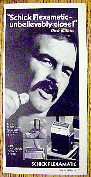 1973 Schick Flexamatic Ad with Dick Butkus (Image1)
