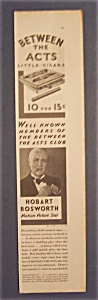 1929 Between The Acts Little Cigars W/ Hobart Bosworth