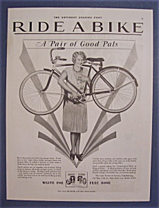 1929 Ride A Bike with a Woman with Bicycle on Shoulders (Image1)