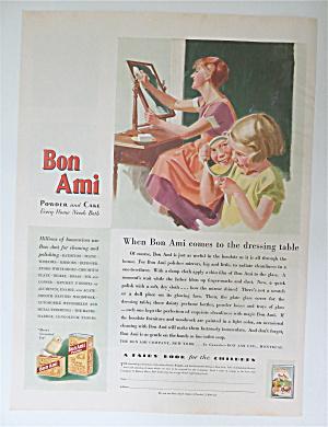 1930 Bon Ami Powder & Cake w/ Woman Cleaning Mirror (Image1)