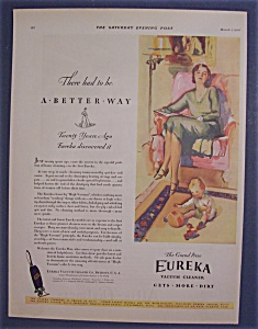Vintage Ad: 1930  Eureka  Vacuum  Cleaner (Image1)