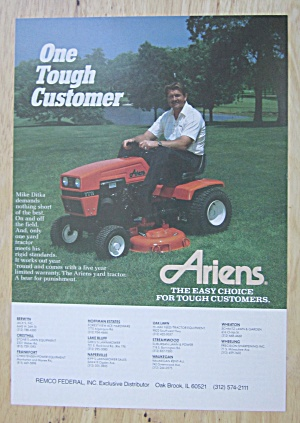 1988 Ariens Riding Lawn Mower w/ Football's Mike Ditka (Image1)