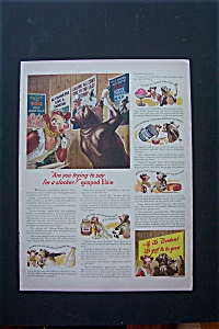 1943 Borden's With Elsie Watches Cow Put Up Sign