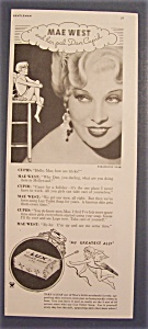 1934 Lux Toilet Soap With Mae West