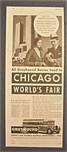 Vintage Ad: 1934 Greyhound  Lines (Image1)