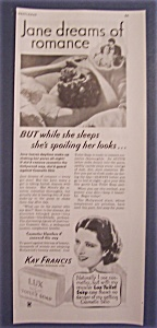 1934 Lux Toilet Soap With Kay Francis