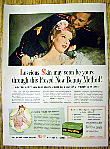 1943 Palmolive Soap with Woman & A Soldier  (Image1)