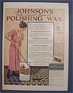 Vintage Ad: 1923 Johnson's Polishing Wax (Image1)