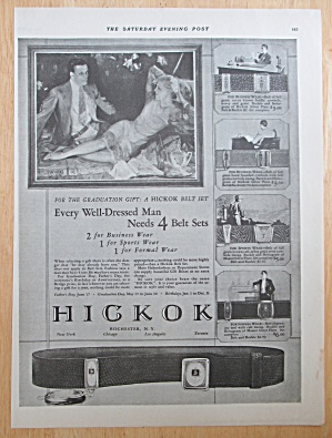 1928 Hickok Belts with Man & Woman Talking  (Image1)