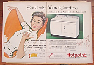 1954 Hotpoint Launduet with Woman Sitting & Smiling (Image1)