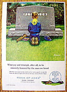 1961 Rock Of Ages W/boy Scout Kneeling By Kerins