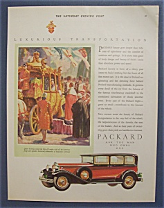 1929 Packard With Queen Victoria