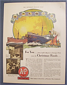 1929 Great Atlantic & Pacific Tea Company W/huge Ship