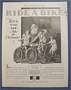 1929 Ride A Bike with Santa Claus & 3 Children on Bikes (Image1)
