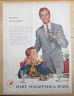 1957 Hart Schaffner & Marx with Man & Boy Scout  (Image1)